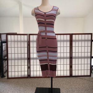 Melloday NWT striped midi dress Medium